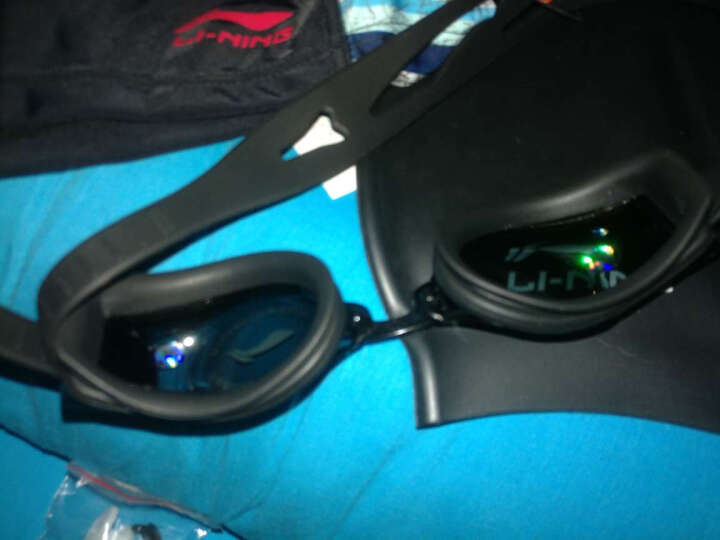 李宁(LI-NING)泳裤套装 泳镜泳帽 近视泳镜套组 LSJK666-1黑色 黑色450度 XL 晒单图