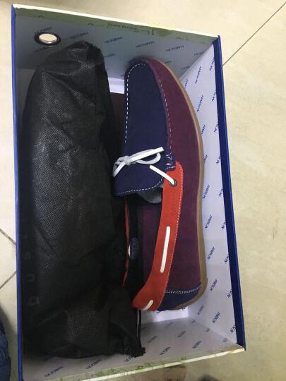 哈森休闲鞋男鞋春季新款时尚反绒牛皮革豆豆鞋MM59120 黄色 38 晒单图