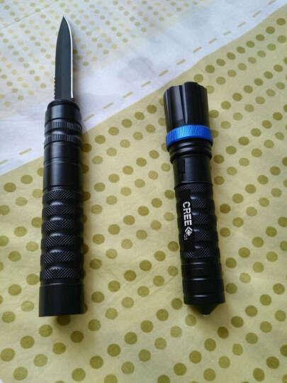 菲莱仕强光手电筒户外刀防身车载充电锂电池手电筒变焦自行车灯F57 手电筒标配+弹弓 晒单图