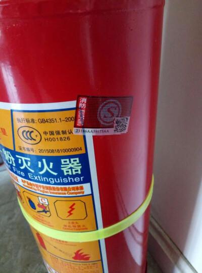 星浙安车载灭火器 汽车用家用商用厂房用干粉灭火器手提式ABC类1KG2KG3kg4公斤 家用/干粉0.5公斤 晒单图