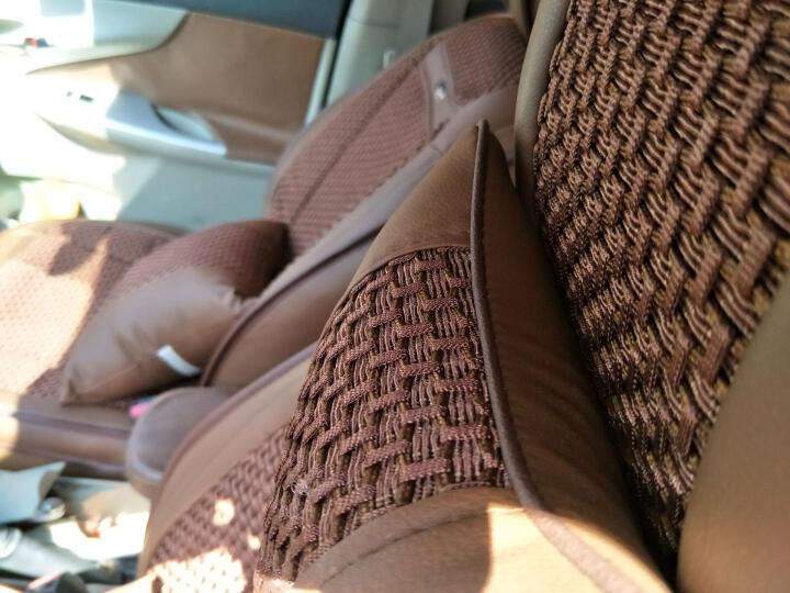 车妖姬汽车坐垫夏季全包新款宝骏510卡罗拉奇骏福克斯速腾轩逸CRV英朗逸四季通用汽车座套垫 爱尚豪华版 咖啡色 晒单图