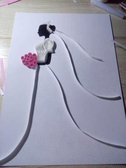 俊雅(JUYA)衍纸线稿图图纸创意手工 礼物 厚型白卡纸可直接制作带说明送教程 猫头鹰 线稿图+配套衍纸 晒单图