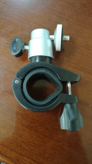 润华年301 新款自行车摩托车车载相机支架 摄像机行车记录仪支架DV支架 银色 铝合金材质云台 晒单图