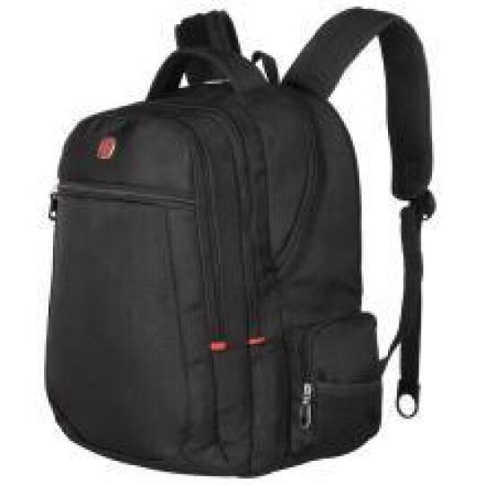 SWISSGEAR电脑包双肩男 防水防刮15.6英寸商务双肩电脑背包 时尚休闲男包双肩包 SA-007黑色 晒单图