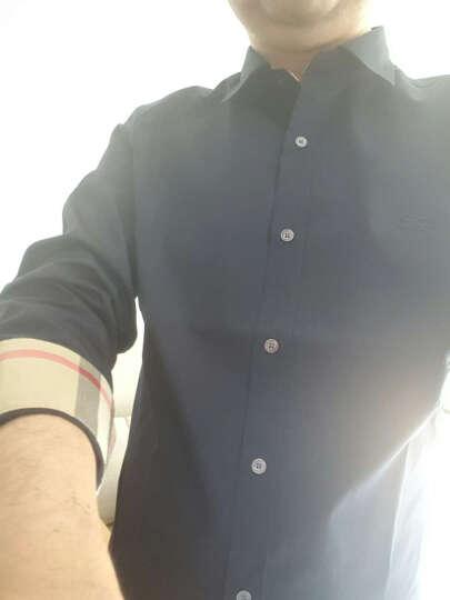 BURBERRY 巴宝莉 男士海军蓝弹力棉府绸长袖衬衫 39911571 XXL码 180/108C 晒单图