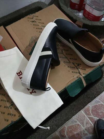 BALLY 巴利 男士牛仔蓝色羊皮休闲男鞋 HERALD 褐色227 8.5码(42.5) 晒单图
