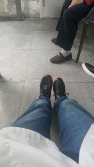 李荣荣休闲鞋男鞋 板鞋男士时尚鞋子 男生户外鞋JQ 蓝色-皮面款 39 晒单图