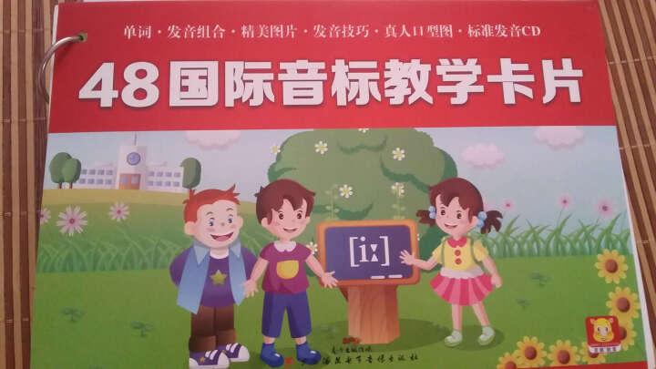 正版48国际音标教学卡片 幼少儿英语入门 启蒙教材 儿童幼儿 英语教育类书籍 早教 国际音 晒单图