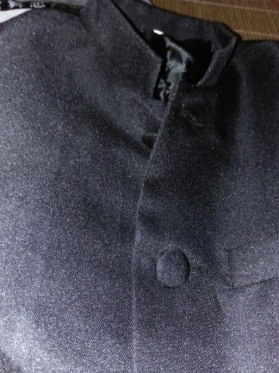 VKQUE 儿童中山装演出服 男童学生装五四青年装民国学生装毕业服演出服 黑色 160cm 晒单图