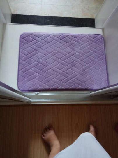 鑫腾飞  脚垫家用厨房门垫进门吸水地垫卫生间防滑垫子 六边形灰色 40*60cm 晒单图