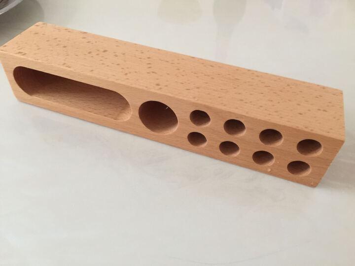 Yustda 笔筒手机支架木 桌面床头收纳盒文具木质笔架办公学生多功能文具创意简约时尚 榉木长方笔筒(木纹随机) 晒单图