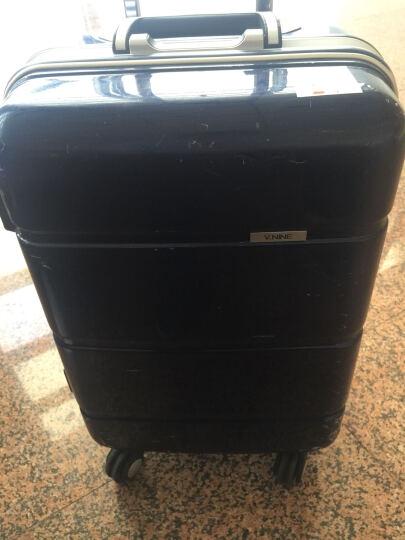 第九城(V.NINE)拉杆箱 万向轮行李箱登机旅行箱 静音万向轮 TSA海关锁 蓝色-铝框箱(款式随机发货) 20英寸(特价清仓) 晒单图