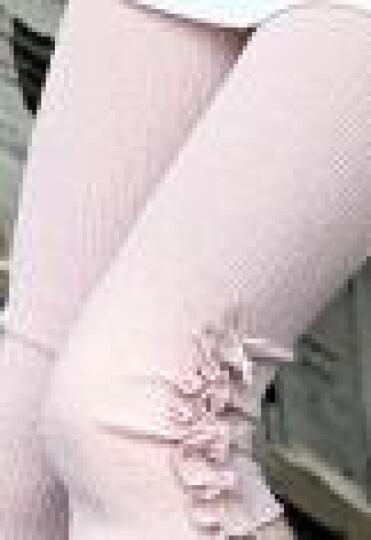 LOVEBBF 2018春款童装 女童打底裤 韩版中小儿童条纹棉裤子 灰色字母 140cm 晒单图