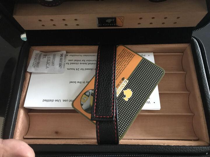 雪茄保湿盒 便携雪松木保湿雪茄盒 烟具盒套装 打火机雪茄剪刀三件套 送男士礼物商务礼 黑色 晒单图
