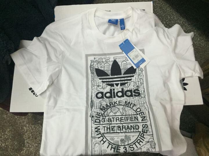 adidas 阿迪达斯 三叶草 男 短袖上衣 白 BP8988 如图 M 晒单图
