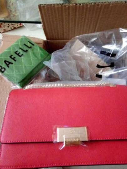 BAFELLI单肩包女包小香风链条链条包方包新款牛皮女包 红色(升级版)现货 晒单图