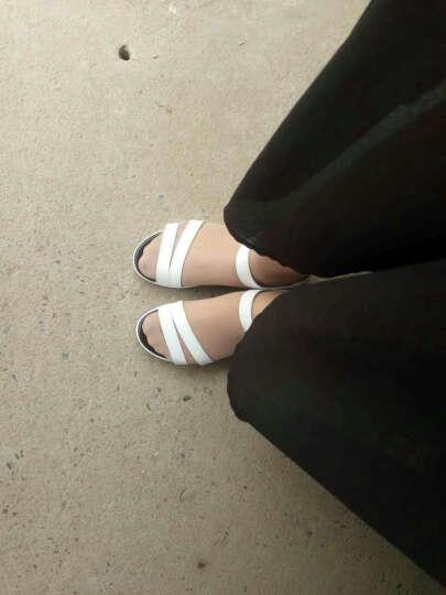 古骋大码凉鞋女夏41-43学生韩版平底40 42坡跟女士凉鞋小码32 33 34 1286黑色 42 晒单图
