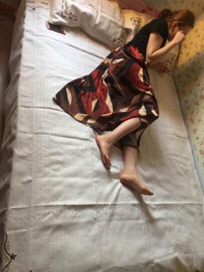 益丽丝亚麻凉席三件套空调席老粗布床单双人学生冰丝席子双面可水洗 绿格长相思 1.8米床(实发2.0米*2.2米) 晒单图
