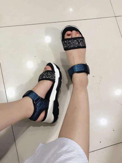 凉鞋女2018夏季新品高跟鱼嘴休闲凉鞋女 白色 37 晒单图
