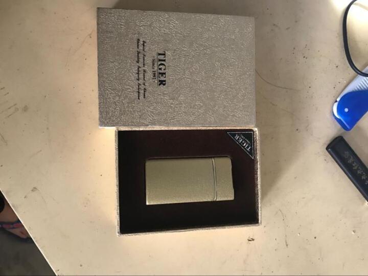 虎牌抖音同款指纹USB电子打火机充电个性送男友创意防风超薄定制 959黑(发财了) 晒单图