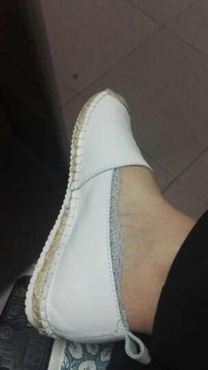 Tata/他她休闲鞋一脚蹬懒人渔夫鞋平底单鞋2FY35AQ7 白色 36 晒单图