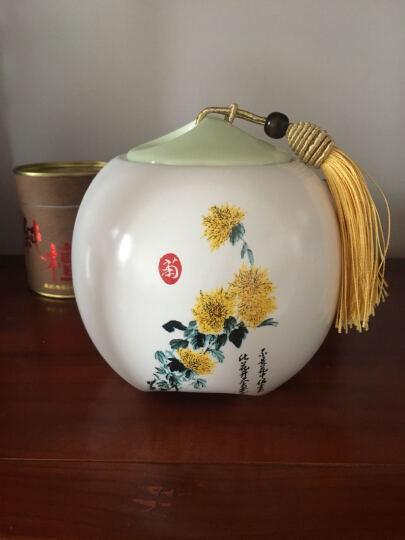 思钰 梅兰竹菊景德镇陶瓷茶叶罐 红茶绿茶 普洱茶罐 大号储藏罐 梅  200克 晒单图