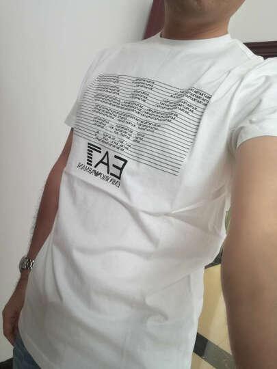 EMPORIO ARMANI EA7 阿玛尼 男士深蓝色棉质圆领短袖T恤 8NPT01 PJ30Z 1578 L码 晒单图