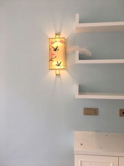 欧迪宝(dob) 新中式壁灯床头灯客厅卧室走廊过道楼梯灯简约酒店工程定制壁灯具 J款单头土豪金22*16*22cm 晒单图
