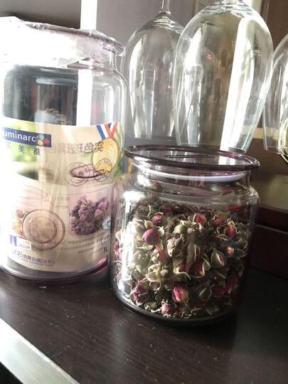 乐美雅凝彩玻璃密封储物罐 三件套组合2+1 干货零食瓶带盖 冰粉色 晒单图