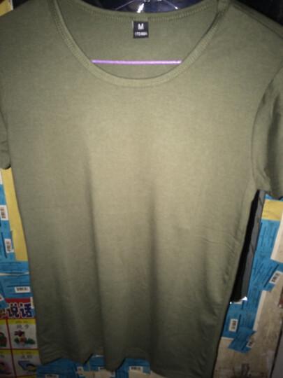 V5 军迷t恤纯棉宽松圆领半袖T恤战术紧身短袖作训迷彩服男 圆绿左臂红旗 M/160-170cm体重85-100斤 晒单图