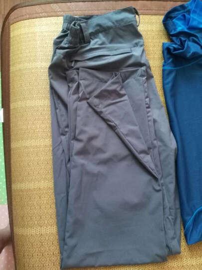 崖虎(YAWHO) 户外速干衣裤套装男夏季新款弹力速干裤薄款快干吸湿透气登山裤 白色/黑色 4XL5XL 晒单图