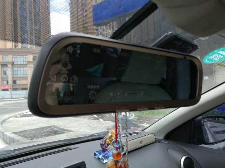 互联移动控智能云后视镜导航仪液晶全屏4G高清行车记录仪云电子狗云镜倒车后视一体机 品质黑+液晶全屏流媒体+免费安装 晒单图