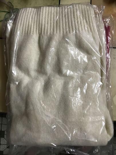 佐丹奴彼尔梦毛衣 男纯色羊毛混纺圆领长袖套头针织衫男13054501 13白色 小码(165/92A) 晒单图