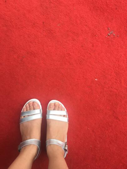 古骋大码凉鞋女夏41-43学生韩版平底40 42坡跟女士凉鞋小码32 33 34 819银色 41 晒单图