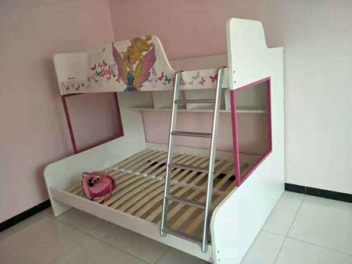 多喜爱儿童床儿童家具 上下床 高低床双层床芭比系列 芭比仙子高低床+拖箱 1.5*2m 晒单图