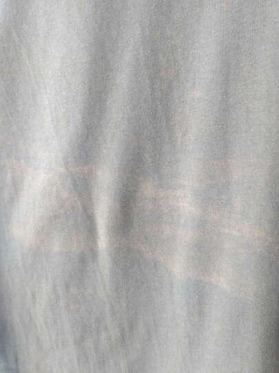利绅狐T恤男2017夏季短袖纯色半截袖小汗衫棉质V领半袖上衣服男装打底衫体恤 军绿V领22 L 晒单图