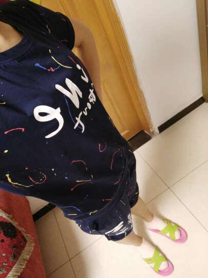 丽尚佰莲T恤女短袖2018休闲运动套装大码女装 L1818 紫色 XXL(建议120--135斤) 晒单图