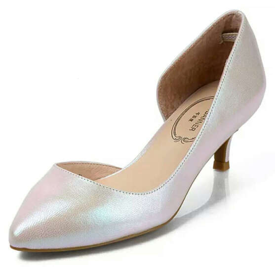 C.BANNER/千百度2016春新品羊皮/贴膜羊皮中空半凉单鞋A6298522 红色 35 晒单图