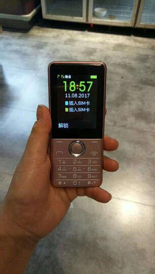 小辣椒 G103 老人手机 移动联通2G 玫瑰金 晒单图