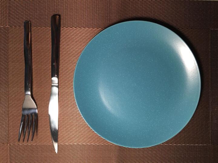 欧橡OAK PVC欧式西餐垫二件套 餐桌垫餐垫加厚隔热垫盘垫碗垫桌布 金黄色 C011 晒单图