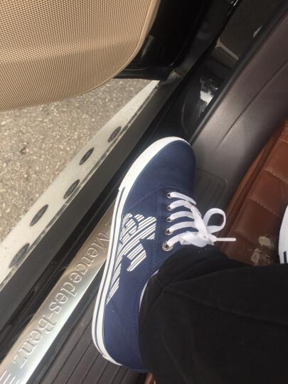 ARMANI EA7 阿玛尼男鞋帆布系带平底鞋休闲鞋板鞋27807 白色 40 晒单图
