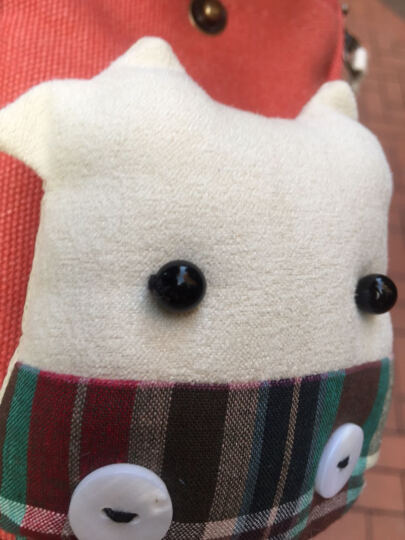 三色补丁 牛牛大屏手机包韩版可爱斜挎手机袋女小包可放iphone6sp 牛牛大屏手机包-法鲁红 晒单图