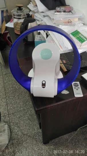 新加坡大风力超静音无叶风扇家用壁挂扇遥控台扇智能定时卧室风扇办公室墙上风扇103NATU 单冷LED版 晒单图