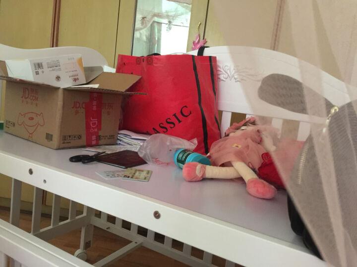 霖贝儿(Linbebe) 婴儿床实木多功能bb床新生儿床白色欧式宝宝床儿童童床拼接大床 白色水性漆多功能婴儿床 晒单图