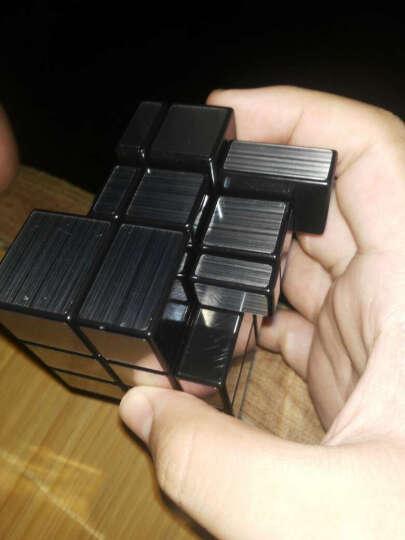 圣手异形魔方 金字塔三角镜面斜转粽子魔方套装速拧顺滑比赛专用益智玩具带教程书 镜面银色 晒单图
