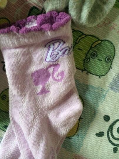 芭比(Barbie) 芭比儿童袜子 女童精梳棉6双组 公主短袜子 秋冬A款87693女童6双组 18-20cm适合6-8岁 晒单图