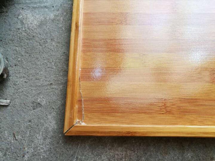 哈尔优 楠竹厨房置物架移动架子餐盘桌火锅架落地菜架 60长四层餐车 晒单图