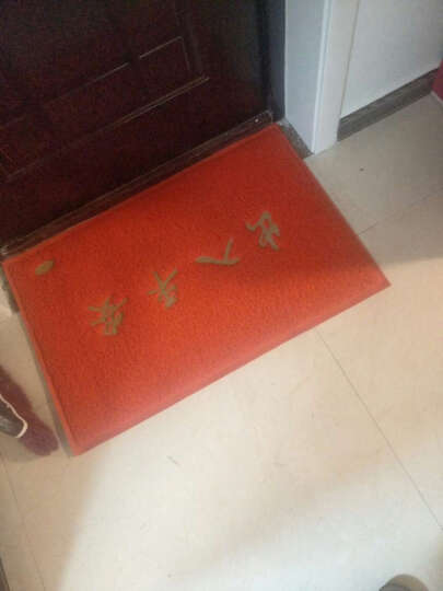 【支持订制】雅姬娜入户门垫欢迎光临地垫门垫除尘脚垫酒店商厦门厅防滑垫 出入平安-红色 45cm*65cm 晒单图