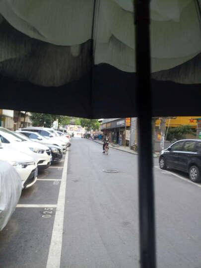 上海故事小黑伞遮阳伞女士防紫外线公主伞韩版夏季防晒黑胶太阳伞创意折叠晴雨伞 胭脂红 晒单图