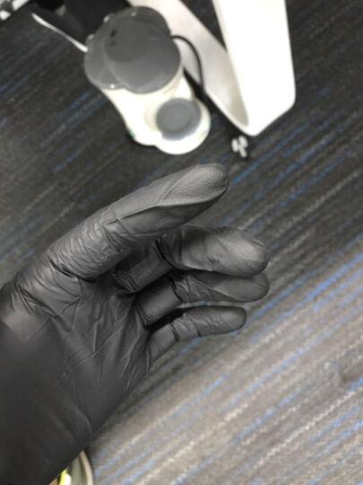 AMMEX爱马斯一次性手套黑色丁腈手套乳胶橡胶防滑实验室工业耐油劳保纹身美容食品家务清洁厨房洗碗 中号M 晒单图
